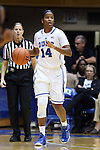 23 November 2014: Duke's Ka'lia Johnson. The Duke University Blue Devils hosted the Marquette University Golden Eagles at Cameron Indoor Stadium in Durham, North Carolina in a 2014-15 NCAA Division I Women's Basketball game. Duke won the game 83-51.