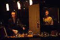London, UK. 30.04.2013. Schaubuhne Berlin presents FRAULEIN JULIE, after August Strindberg, in a version by Katie Mitchell, in the Barbican theatre. The cast is: Jule Bowe (Kristin), Tilman Strauss (Jean), Luise Wolfram (Julie), Chloe Miller (Cellist). Photograph © Jane Hobson.
