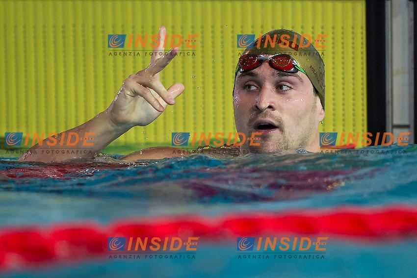 Marco Orsi Fiamme Oro<br /> 4X100 Stile Libero Maschi<br /> Finali Giorno 3<br /> Campionati Italiani Assoluti Nuoto Primaverili Fin UnipolSai<br /> Riccione Italy 14-18/04/2015<br /> Photo Andrea Masini/Deepbluemedia/Insidefoto