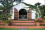 South America, Ecuador, Cotacachi. La Mirage Garden Hotel Chapel