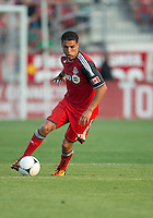 18 July 2012: Toronto FC midfielder Luis Silva #11in action during an MLS game between the Colorado Rapids and Toronto FC at BMO Field in Toronto, Ontario..Toronto FC won 2-1..