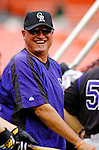 13 June 2006: Clint Hurdle, manager of the Colorado Rockies, stands outside the batting cage prior to a game against the Washington Nationals at RFK Stadium, in Washington, DC. The Rockies defeated the Nationals 9-2 in the second game of the four-game series...Mandatory Photo Credit: Ed Wolfstein Photo..