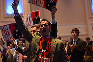 March 14, 2013  (National Harbor, MD)  Supporters of U.S. Senator Rand Paul (R-KY) cheer as he speaks to attendees of the 2013 Conservative Political Action Conference (CPAC).  (Photo by Don Baxter/Media Images International)