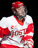 Cason Hohmann (BU - 7) - The visiting Northeastern University Huskies defeated the Boston University Terriers 6-5 on Friday, January 18, 2013, at Agganis Arena in Boston, Massachusetts.