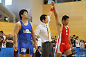 (L to R) Hiroshi Izumi, Masahiro Kanemitsu, July 2, 2011 - Wrestling : All Japan Industrial Wrestling Championship, Men's Free Style -96kg at Wako General Gymnasium, Saitama, Japan. (Photo by Daiju KitamuraAFLO SPORT) [1045]