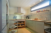 A functional and utilitarian kitchen with plenty of useful storage