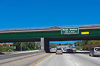 CA-101 Freeway, Thousand Oaks, CA, Weigh Station, limited access, divided highway, with, grade separated, junctions, without traffic lights or stop signs,