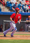 5 March 2013: Washington Nationals outfielder Bryce Harper in action during a Spring Training game against the Houston Astros at Space Coast Stadium in Viera, Florida. The Nationals defeated the Astros 7-1 in Grapefruit League play. Mandatory Credit: Ed Wolfstein Photo *** RAW (NEF) Image File Available ***