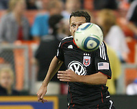 Carlos Verela #11 of D.C. United during an MLS match against the San Jose Earthquakes at RFK Stadium in Washington D.C. on October 9 2010. San Jose won 2-0.