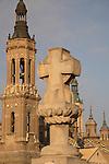 Basilica of Our Lady of Pilar Church; Zaragoza, Saragossa; Aragon; Spain
