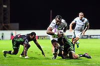 Semesa Rokoduguni of Bath Rugby looks to reach the Pau try-line. European Rugby Challenge Cup match, between Pau (Section Paloise) and Bath Rugby on October 15, 2016 at the Stade du Hameau in Pau, France. Photo by: Patrick Khachfe / Onside Images