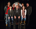 London, UK. 02.05.2013. Comedians Phill Jupitus, Mark Thomas, Omid Djalili, Imran Yusef and Isy Suttie at the Comedy Store, in advance of the STAND UP FOR FREE SPEECH benefit gig for Belarus Free Theatre on Monday 27th May. Belarus has the last remaining dictatorship in Europe and the Belarus Free Theatre was founded in March 2005 by.Natalia Kaliada and Nicolai Khalezin. Their performances are often done in secret and are subject to targeting and.censorship by the authorities. They sought political asylum in the UK in 2011 and created a new part of the company.in London. They continue their work with the permanent ensemble left behind in Minsk, who perform and tour around.the world as Belarus Free Theatre. The funds raised from this evening will help support freedom of expression and.will help the company in their work. Back row: Phill Jupitus, Nicolai Khalezin (founder of Belarus Free Theatre), Imran Yusef, Vladimir, Mark Thomas. Front row, Natalia Kaliada (founder of Belarus Free Theatre), Omid Djalili and Isy Suttie. Photograph © Jane Hobson.