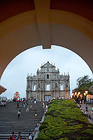 The ruins of Saint Paul's Church, a famous landmark in the historic center of Macao.<br />