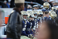 Annapolis, MD - December 3, 2016: Navy Midshipmen players look at the scoreboard during game between Temple and Navy at  Navy-Marine Corps Memorial Stadium in Annapolis, MD.   (Photo by Elliott Brown/Media Images International)