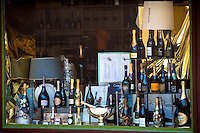 Champagne - Laurent Perrier, Perrier-Jouet, Veuve Clicquot, Krug, Moet and Chandon, Bollinger, Dom Ruinart, Louis Roederer, Pol Roger, Taittinger at specialist shop in Epernay, Champagne-Ardenne, France