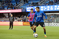 San Jose, CA - Friday April 14, 2017: Chris Wondolowski, Nick Lima  prior to a Major League Soccer (MLS) match between the San Jose Earthquakes and FC Dallas at Avaya Stadium.