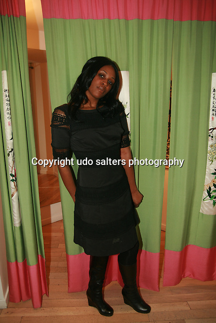 Tatashima McMillan attends an exclusive elegant evening of fashion and design through Shop for a Cause highlighting art and fashion from local emerging Haitian artisans Hosted by Designer, Tracy Reese, JRT Multimedia, CEO Jocelyn Taylor and BACARDI USA at the Tracy Reese Flagship Store 1/26/11<br />