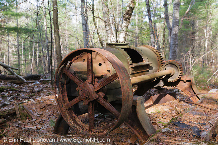 Rock Tumbler, used to polish the granite, at the abandoned Redstone Granite quarry in Conway, New Hampshire.