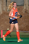 23 September 2016: Syracuse's Nijsje Venrooy (NED). The University of North Carolina Tar Heels hosted the Syracuse University Orange at Francis E. Henry Stadium in Chapel Hill, North Carolina in a 2016 NCAA Division I Field Hockey match. UNC won the game 3-2 in two overtimes.