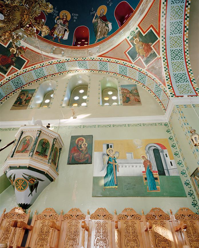 Greek church interior, Nisyros island, Greece