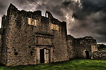 Beaupre Castle medieval ruins in Wales.