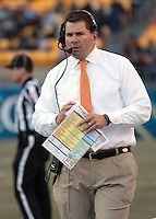 Miami head coach Al Golden. The Miami Hurricanes defeated the Pitt Panthers 41-31 at Heinz Field, Pittsburgh, Pennsylvania on November 29, 2013.