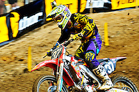 Darryn Durham during the first moto of the 250 class at the Lucas Oil AMA Pro Motocross at Budds Creek National in Mechanicsville, Maryland on Saturday, June 18, 2011. Alan P. Santos/DC Sports Box