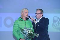 SCHAATSEN: HEERENVEEN: 26-10-2013, IJsstadion Thialf, NK afstanden, Koen Verweij, Jan van der Meulen, KPN Clubhuis, ©foto Martin de Jong