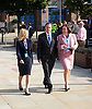 Andrea Jenkyns, David Cameron & Anne-Marie Trevelyan walking from the Midland Hotel to Manchester Central during the Conservative Party Conference 30th September 2013