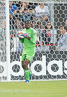 12 September 2012: Chicago Fire goalkeeper Sean Johnson #25 in action during an MLS game between the Chicago Fire and Toronto FC at BMO Field in Toronto, Ontario..The Chicago Fire won 2-1..