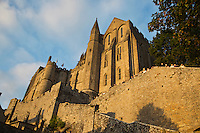 Europe/France/Normandie/Basse-Normandie/50/Manche: Baie du Mont Saint-Michel, classée Patrimoine Mondial de l'UNESCO, Le Mont Saint-Michel , L'abbatiale // Europe/France/Normandie/Basse-Normndie/50/Manche: Bay of Mont Saint Michel, listed as World Heritage by UNESCO,  The Mont Saint-Michel,  the Abbey Church