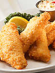 Panko breaded baked fish.