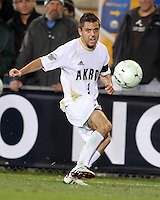 Michael Nanchoff #9 of the University of Akron during the 2010 College Cup semi-final against the University of Michigan at Harder Stadium, on December 10 2010, in Santa Barbara, California. Akron won 2-1.