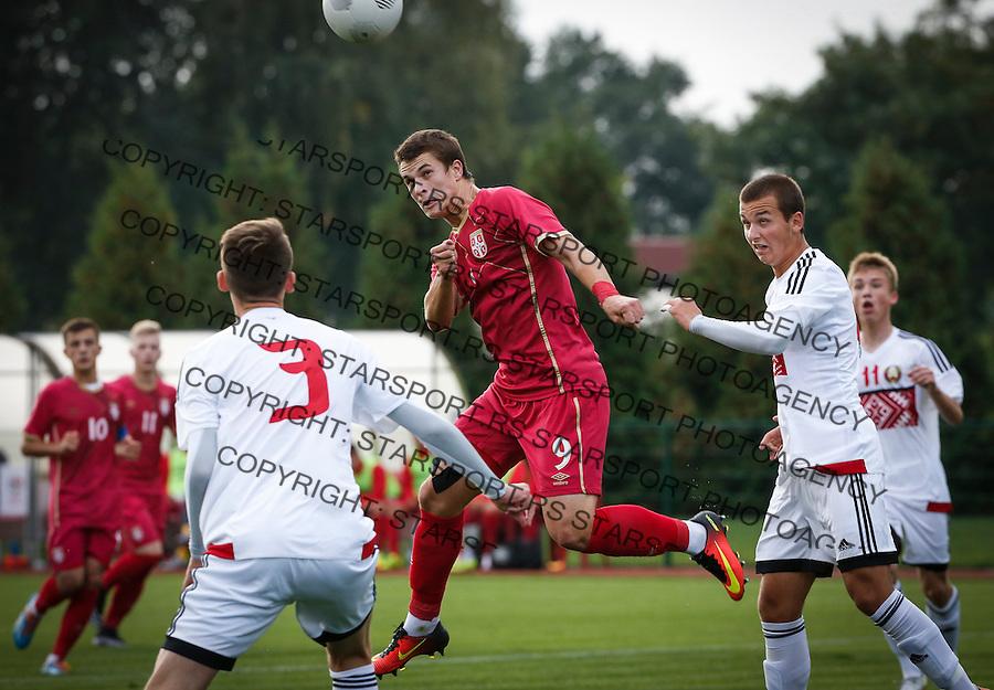 Fudbal Soccer<br /> International Friendly-Prijateljski mec<br /> Srbija U17 v Belorusiaj U17<br /> Filip Stuparevic (C)<br /> Stara Pazova, 20.09.2016<br /> foto: Srdjan Stevanovic/Starsportphoto &copy;