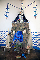 "Cuba, Trinidad.   Shrine to Yemalla,  Templo de Yemalla (""Jemaya""), a Yoruba Orisha, Protector of Children, representing the Ocean, Water, Fish."