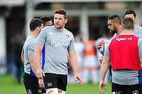 Charlie Ewels of Bath Rugby looks on during the pre-match warm-up. European Rugby Challenge Cup Quarter Final, between Bath Rugby and CA Brive on April 1, 2017 at the Recreation Ground in Bath, England. Photo by: Patrick Khachfe / Onside Images