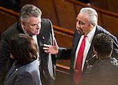 United States Representatives Peter King (Republican of New York), left, and Charlie Rangel (Democrat of New York), right share some thoughts prior to the arrival of President Barack Obama to deliver his State of the Union Address to a Joint Session of Congress in the U.S. Capitol in Washington, D.C., Tuesday, January 24, 2012..Credit: Ron Sachs / CNP.(RESTRICTION: NO New York or New Jersey Newspapers or newspapers within a 75 mile radius of New York City)