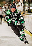 24 October 2015: University of North Dakota Forward Bryn Chyzyk, a Senior from Virden, Manitoba, in first period action against the University of Vermont Catamounts at Gutterson Fieldhouse in Burlington, Vermont. North Dakota defeated the Catamounts 5-2 in the second game of their weekend series. Mandatory Credit: Ed Wolfstein Photo *** RAW (NEF) Image File Available ***