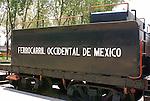 Coal car or tender, Museo Nacional de los Ferrocarriles Mexicanos or National Railway Museum in the city of Puebla, Mexico