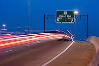 MoPac Expressway (Loop 1) holds six lanes, three northbound and three southbound connecting access to the west side of Austin.