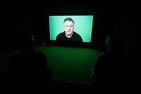 57th Art Biennale in Venice - Viva Arte Viva.<br /> Arsenale, South Africa.<br /> Candice Breitz: Love Story, 2016.<br /> Featuring Alec Baldwin and Julianne Moore.