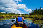 Canoeing in the Boundary Waters Canoe Area Wilderness in the Superior National Forest in Northern Minnesota.