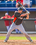 9 March 2013: Miami Marlins outfielder Jordan Brown in action during a Spring Training game against the Washington Nationals at Space Coast Stadium in Viera, Florida. The Nationals edged out the Marlins 8-7 in Grapefruit League play. Mandatory Credit: Ed Wolfstein Photo *** RAW (NEF) Image File Available ***