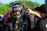 May 4, 2012; Commerce, GA, USA: NHRA funny car driver Todd Lesenko during qualifying for the Southern Nationals at Atlanta Dragway. Mandatory Credit: Mark J. Rebilas-