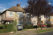 Semi-detached 1930s housing, Harrow, North West London..