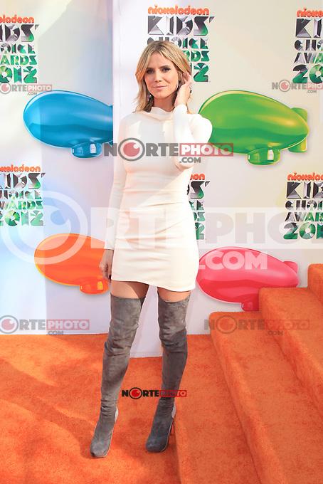 Heidi Klum at Nickelodeon's 25th Annual Kids' Choice Awards at The Galen Center on March 31, 2012 in Los Angeles, California. &copy; mpi26/MediaPunch Inc. /NortePhoto<br /> <br />  **CREDITO*OBLIGATORIO** *No*Venta*A*Terceros*<br /> *No*Sale*So*third* ***No*Se*Permite*Hacer Archivo***No*Sale*So*third*