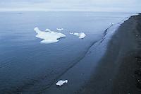 Icebergs along the coast of the Arctic Ocean, Utqiagvik (Barrow), Alaska