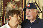 AUG. 11, 2012 - MERRICK, NEW YORK, U.S. - BARBARA BYRNE - who was a WAC (U.S. Women's Army Corps) - and her husband JOHN BYRNE - who was in U.S. Army, are at barbecue American Legion Merrick Post 1282 hosted for vets from Long Island State Veterans Home at Stony Brook University. John Byrne is a member of Post 1282, and Barbara Byrne is a dual member of both the Post and Auxilliary Unit.