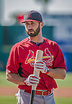 9 March 2014: St. Louis Cardinals shortstop Daniel Descalso prepares for batting practice prior to a Spring Training game against the Washington Nationals at Space Coast Stadium in Viera, Florida. The Nationals defeated the Cardinals 11-1 in Grapefruit League play. Mandatory Credit: Ed Wolfstein Photo *** RAW (NEF) Image File Available ***