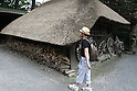 July 20, 2010 - Niiza, Japan - A foreign tourist visits Heirin-ji, a Rinzai temple of the Myoshin-ji branch located in Niiza city, Saitama prefecture, Japan, on July 20, 2010. The visit is part of the 'True Japan Saitama - Zen Medidation and Buddhist Vegetarian Cuisine' tour, organized by the travel agency JTB for leisure travelers.